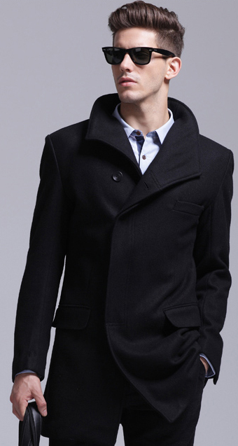2020 Super Stylish Black Wool Pea Coat Needpeacoat Com